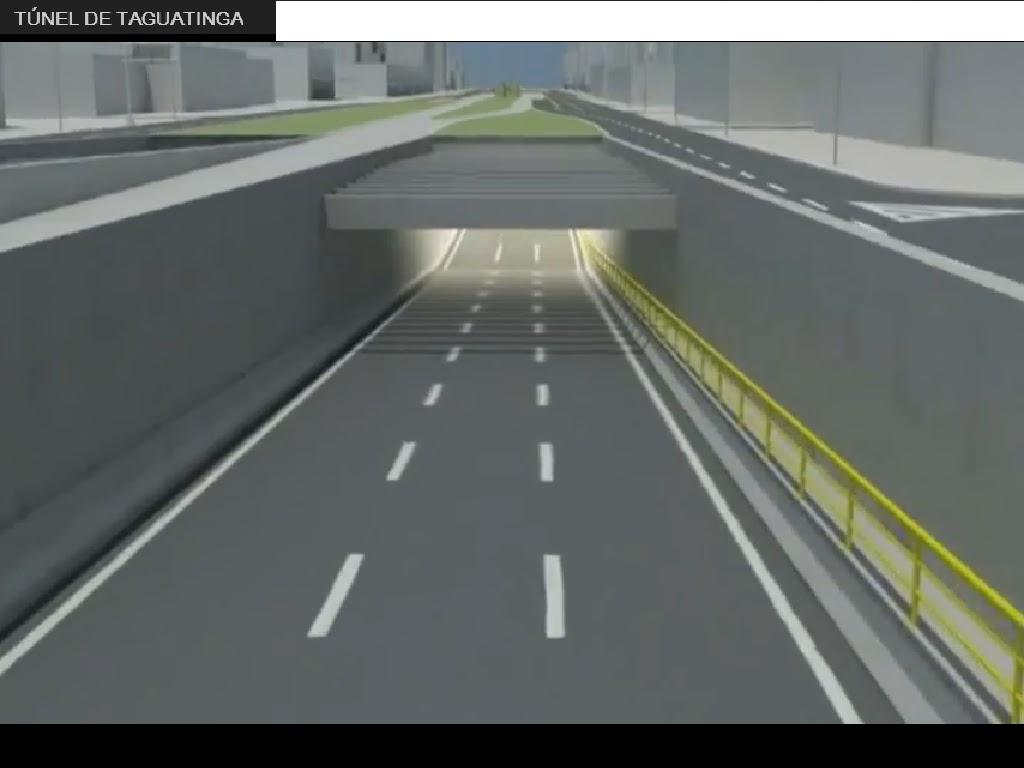 Imagem do Projeto do túnel Taguatinga