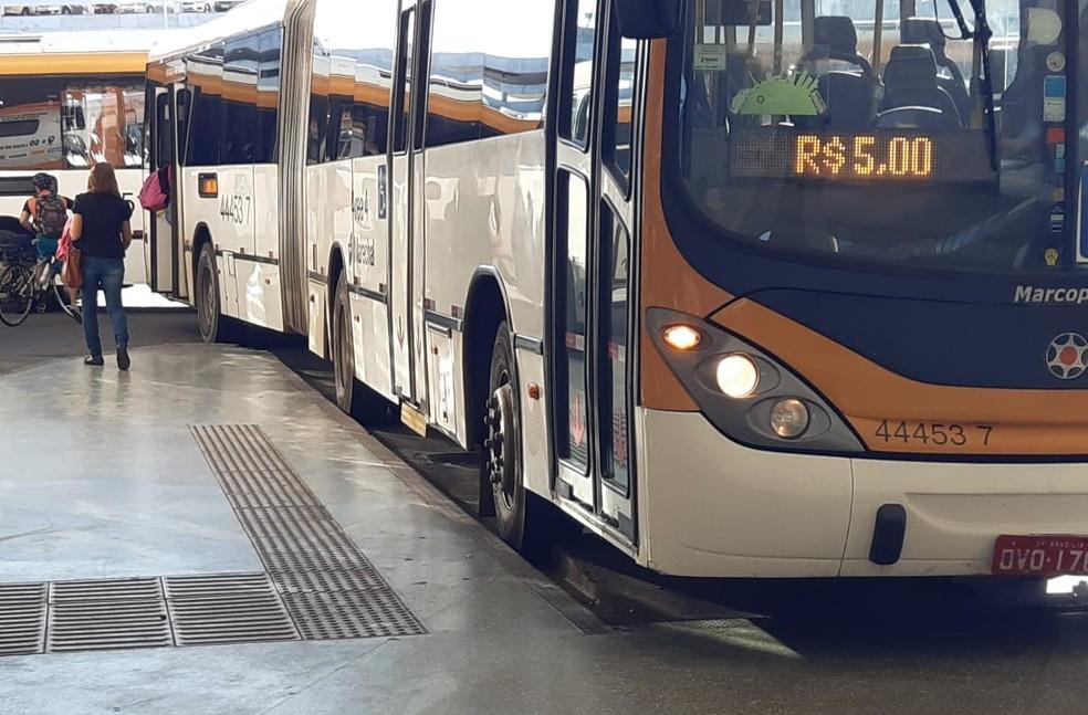 Passagens de ônibus vão subir a partir de segunda-feira