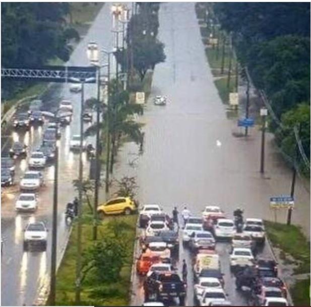 Chuva interdita viadutos de Águas Claras e Taguatinga