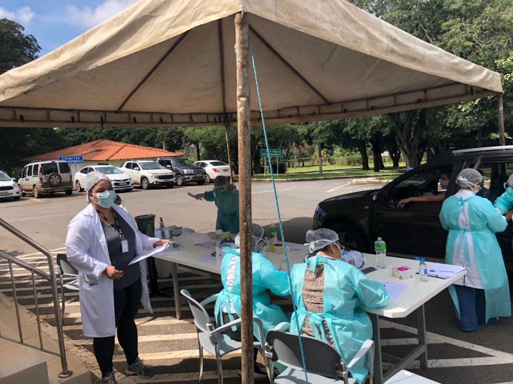 1º dia de testes em massa no DF, 46 pessoas testaram positivo para Covid-19