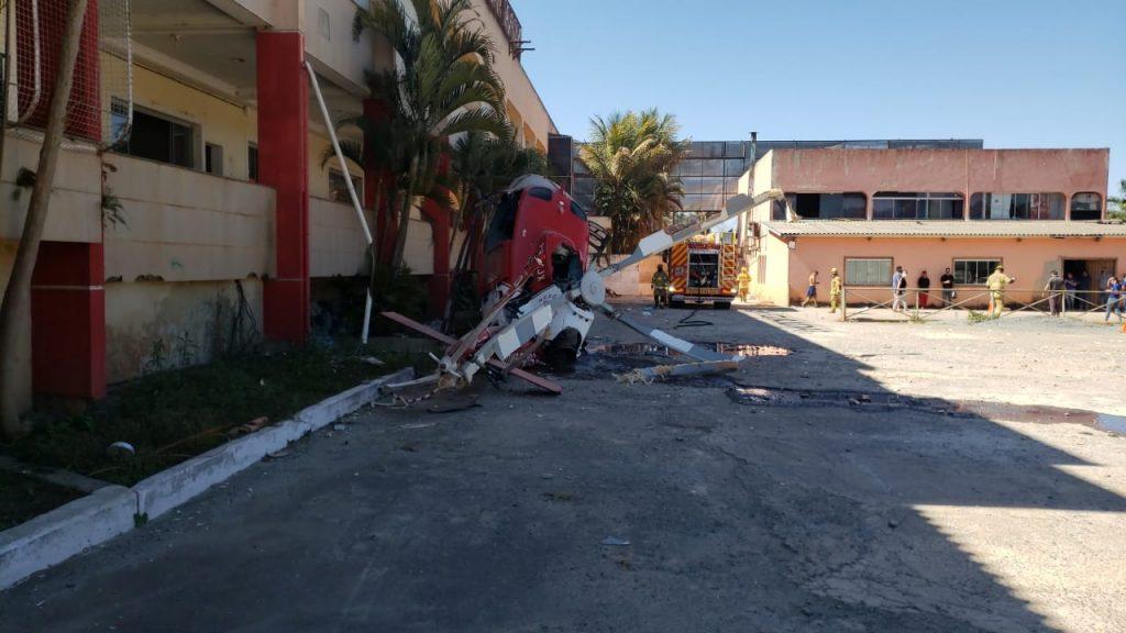 Queda de helicóptero em Vicente Pires